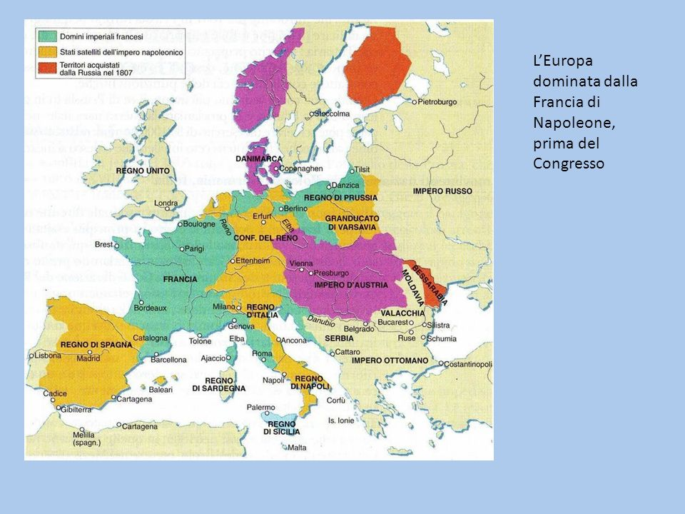 LEuropa dominata dalla Francia di Napoleone, prima del Congresso