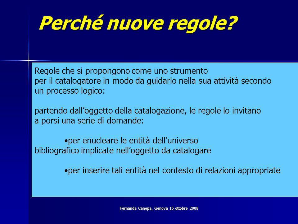 Fernanda Canepa, Genova 15 ottobre 2008 Lattività di catalogazione: quali domande.
