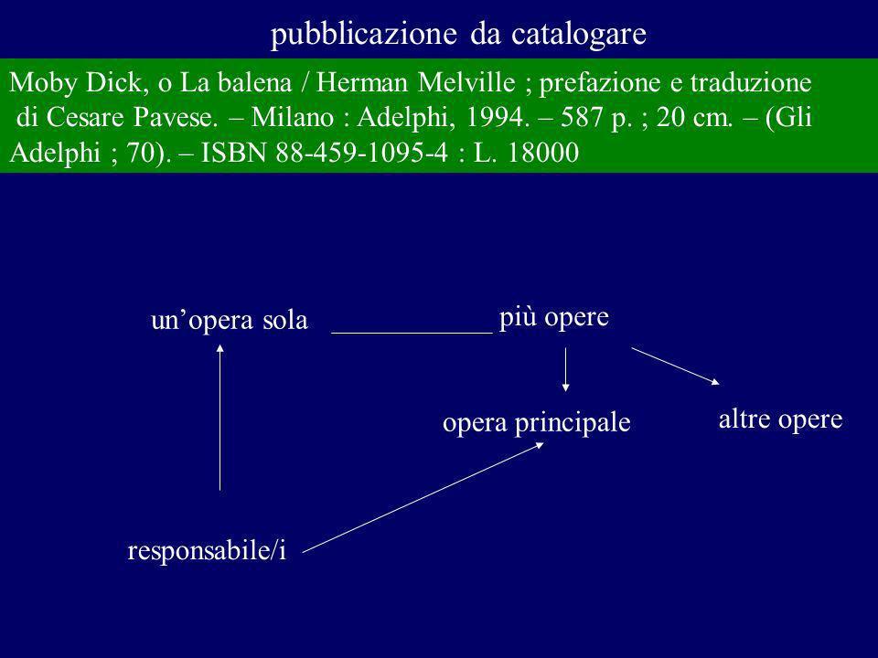 individuazione dellopera e della sua espressione: scelta del titolo uniforme t.u.
