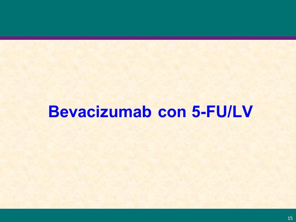 15 Bevacizumab con 5-FU/LV