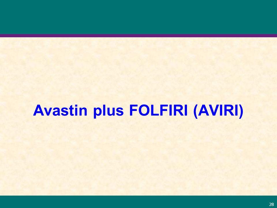 28 Avastin plus FOLFIRI (AVIRI)