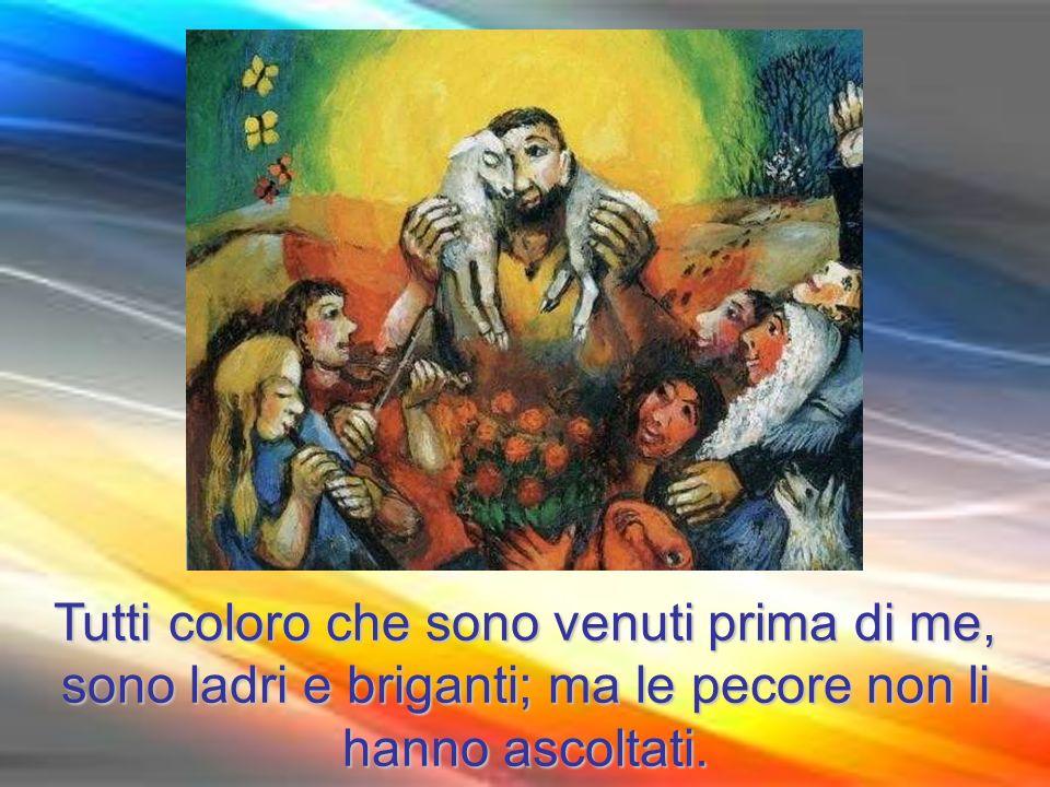 Allora Gesù disse loro di nuovo: «In verità, in verità io vi dico: io sono la porta delle pecore.