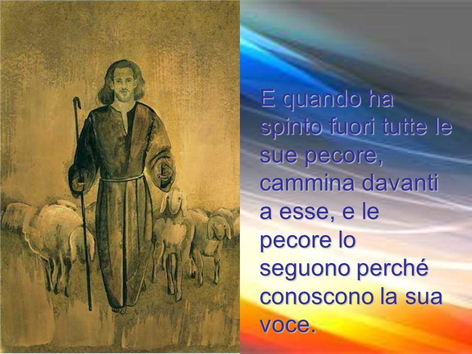 egli chiama le sue pecore, ciascuna per nome, e le conduce fuori.
