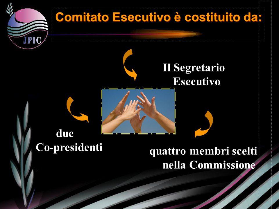 Il Segretario Esecutivo due Co-presidenti quattro membri scelti nella Commissione Comitato Esecutivo è costituito da: