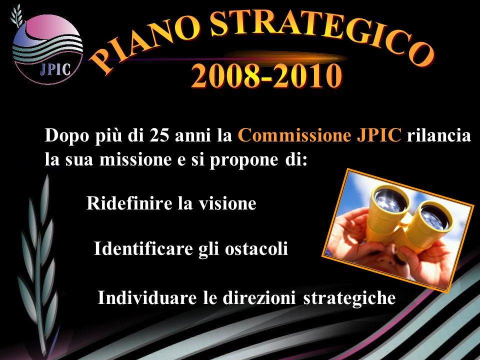 Ridefinire la visione Dopo più di 25 anni la Commissione JPIC rilancia la sua missione e si propone di: Individuare le direzioni strategiche Identificare gli ostacoli