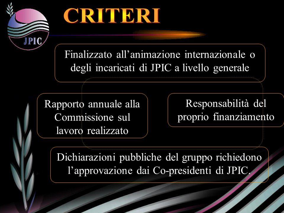 Dichiarazioni pubbliche del gruppo richiedono lapprovazione dai Co-presidenti di JPIC.