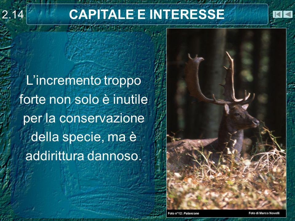 Lincremento troppo forte non solo è inutile per la conservazione della specie, ma è addirittura dannoso.