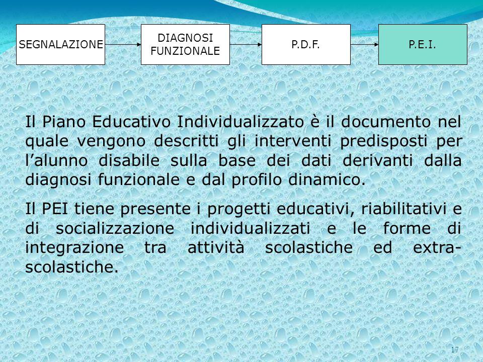 17 SEGNALAZIONE DIAGNOSI FUNZIONALE P.D.F.P.E.I.