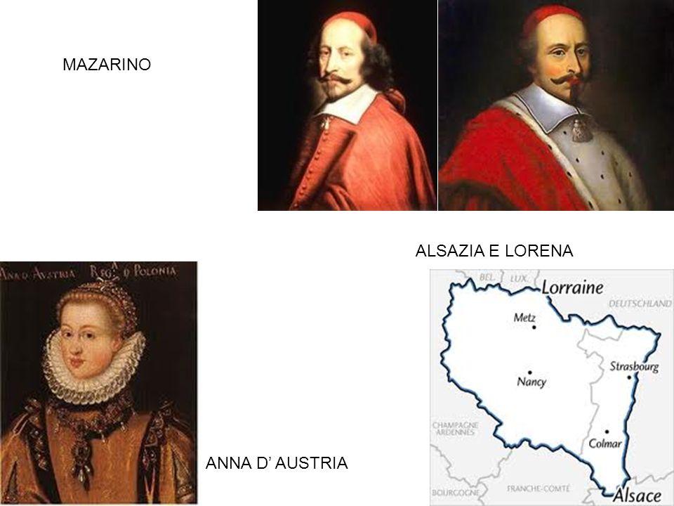 MAZARINO ANNA D AUSTRIA ALSAZIA E LORENA