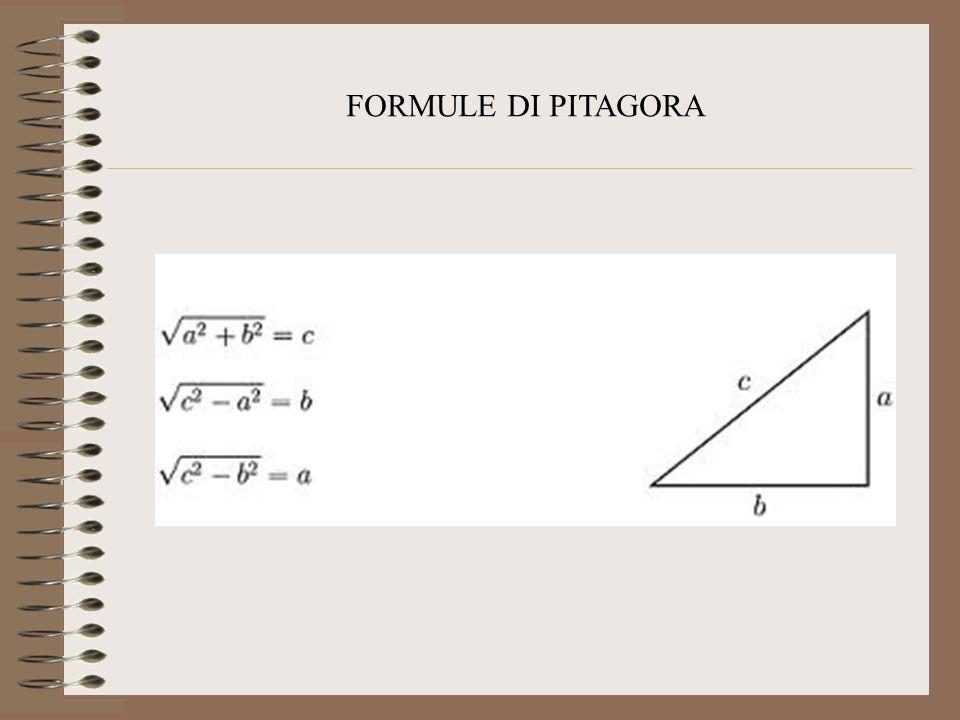 Enunciato del Teorema di Pitagora In un triangolo rettangolo la somma delle aree dei quadrati costruiti sui cateti è uguale allarea del quadrato costr