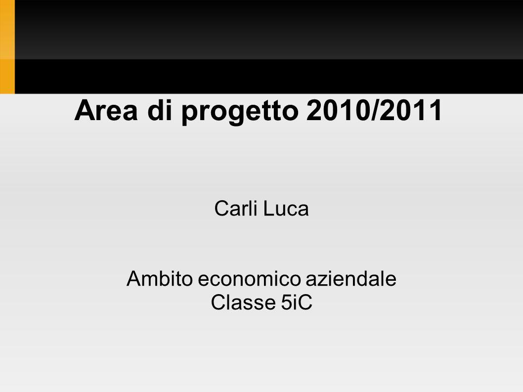 Carli Luca Ambito economico aziendale Classe 5iC Area di progetto 2010/2011