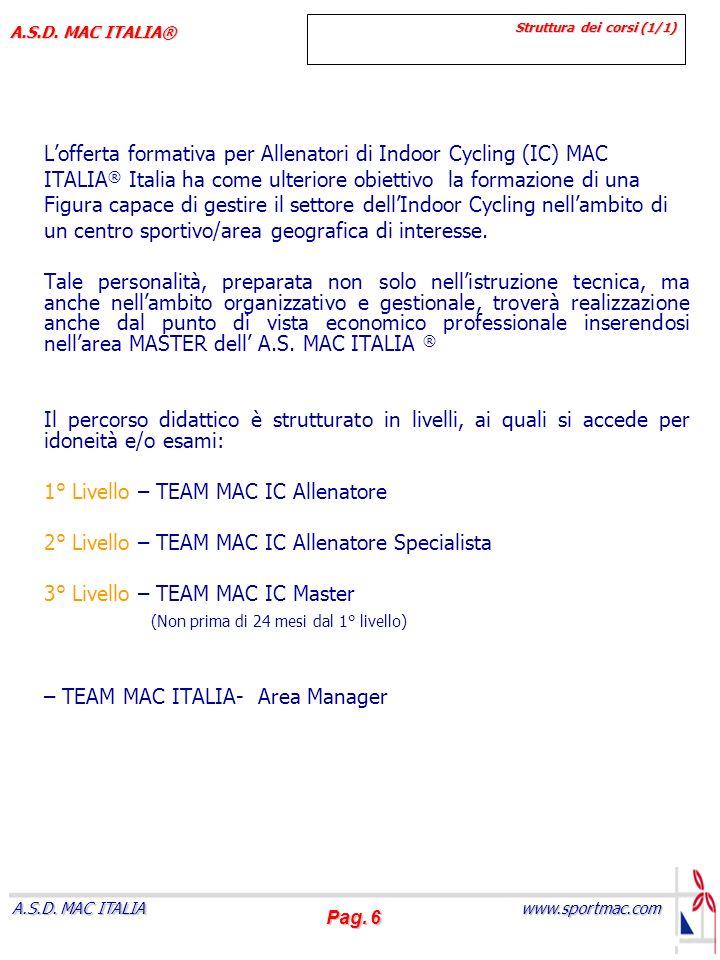 Pag.7 www.sportmac.com A.S.D. MAC ITALIA A.S.D.
