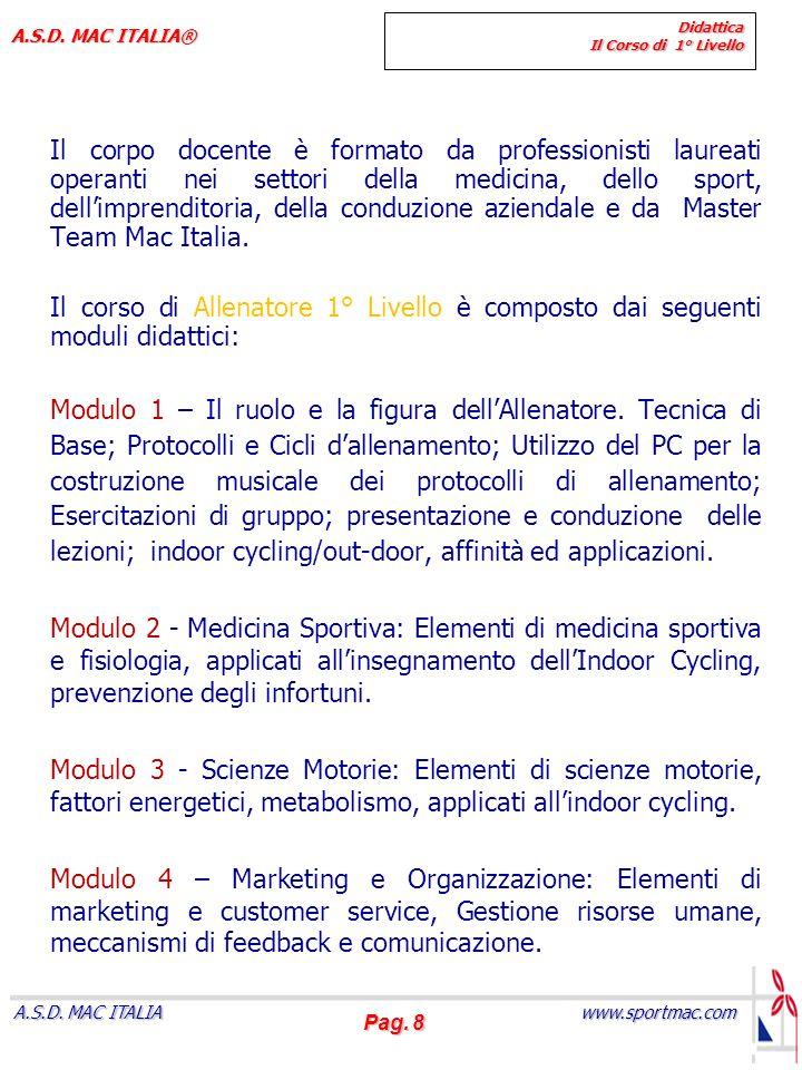 Pag.9 www.sportmac.com A.S.D. MAC ITALIA A.S.D.