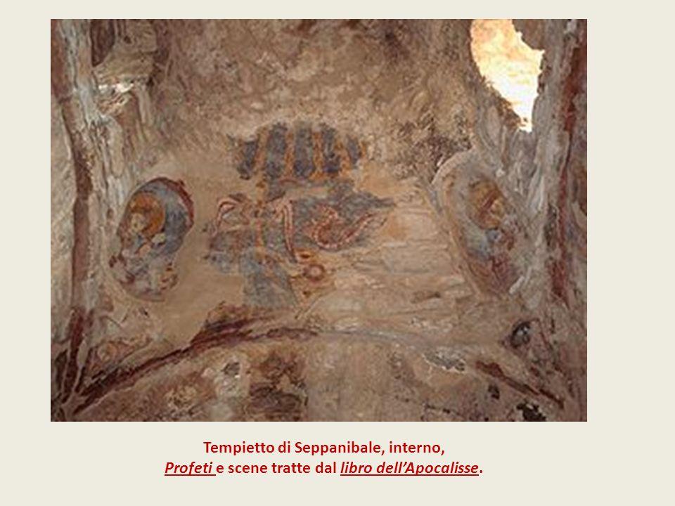 Tempietto di Seppanibale, interno, Profeti e scene tratte dal libro dellApocalisse.