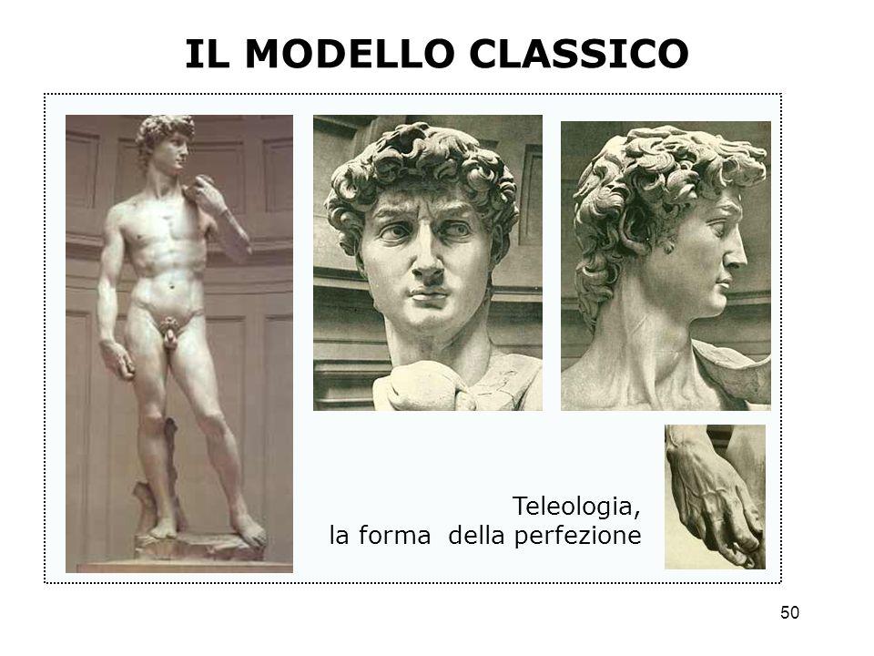 50 IL MODELLO CLASSICO Teleologia, la forma della perfezione