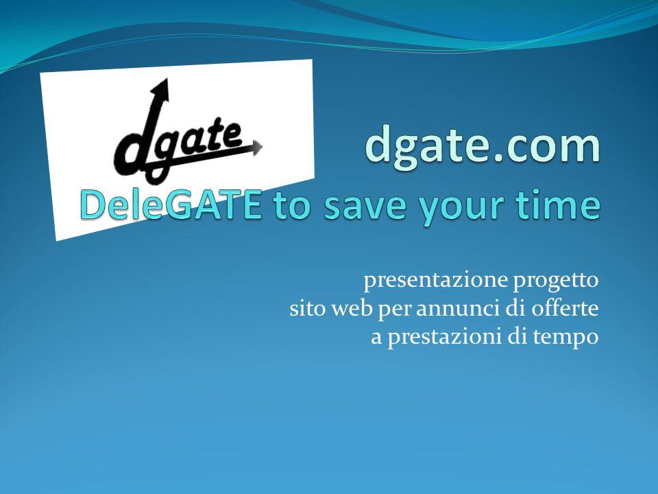 presentazione progetto sito web per annunci di offerte a prestazioni di tempo