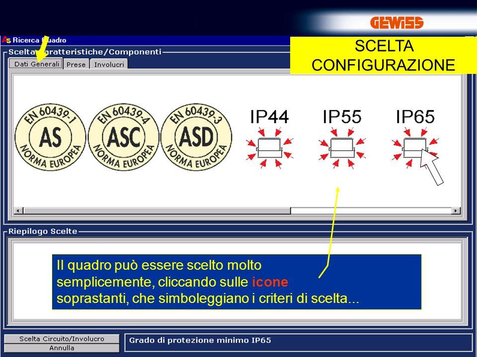 9 Il quadro può essere scelto molto semplicemente, cliccando sulle icone soprastanti, che simboleggiano i criteri di scelta...