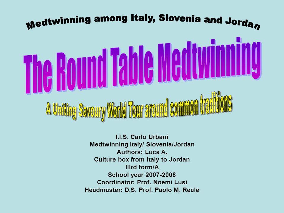 I.I.S.Carlo Urbani Medtwinning Italy/ Slovenia/Jordan Authors: Luca A.