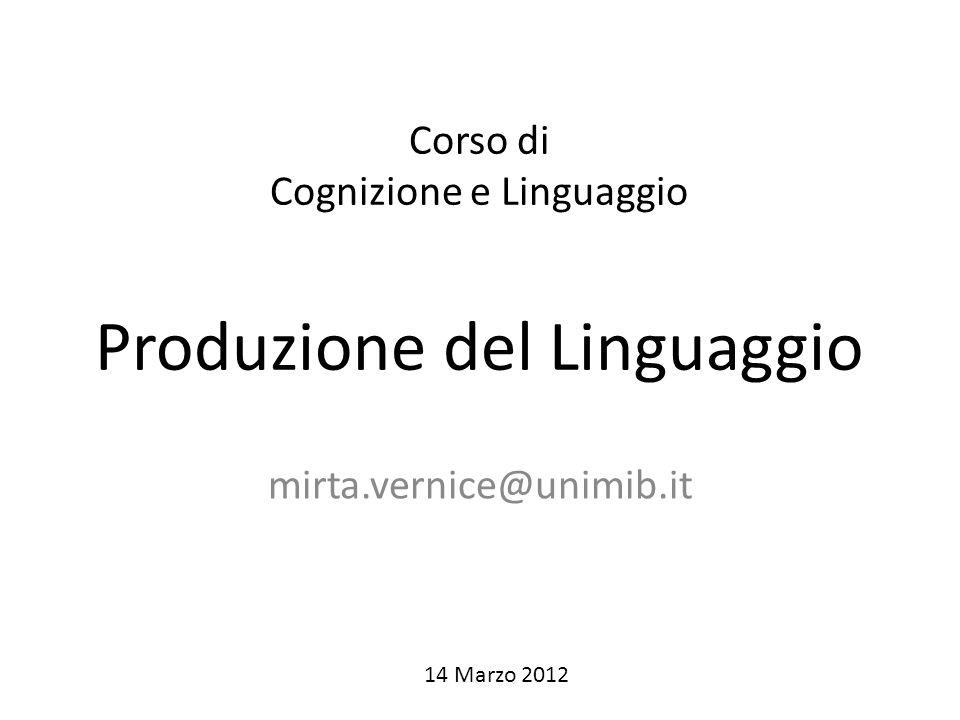 Lezioni 14 – 15 Marzo : produzione linguaggio/progetti 20 Marzo: progetti 17-18 Aprile: progetti (svolgimento/analisi dati/ report) 3 Maggio: progetti (presentazione) 16 – 17 Maggio: presentazione progetti