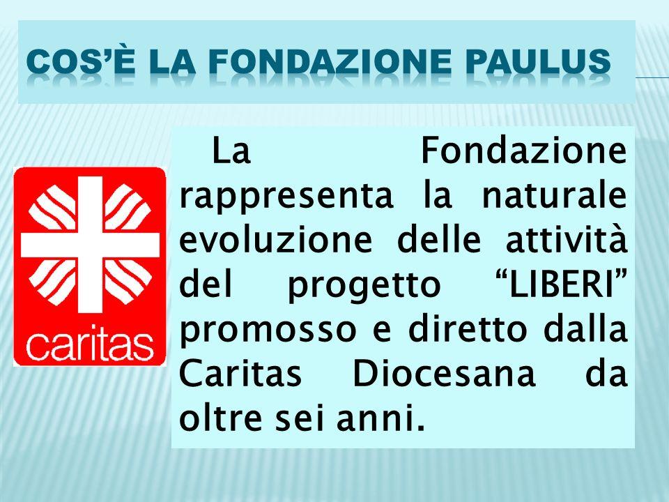La Fondazione rappresenta la naturale evoluzione delle attività del progetto LIBERI promosso e diretto dalla Caritas Diocesana da oltre sei anni.