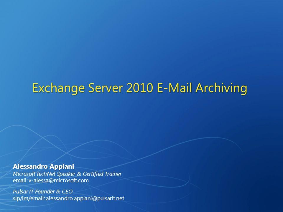 A RCHIVING P OLICIES Criteri di archiviazione, conservazione e gestione dei contenuti