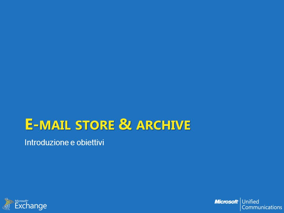 SharePoint Outlook PSTs Webmail Third Party Archive Backups Exchange Server Dove sono le e-mail?