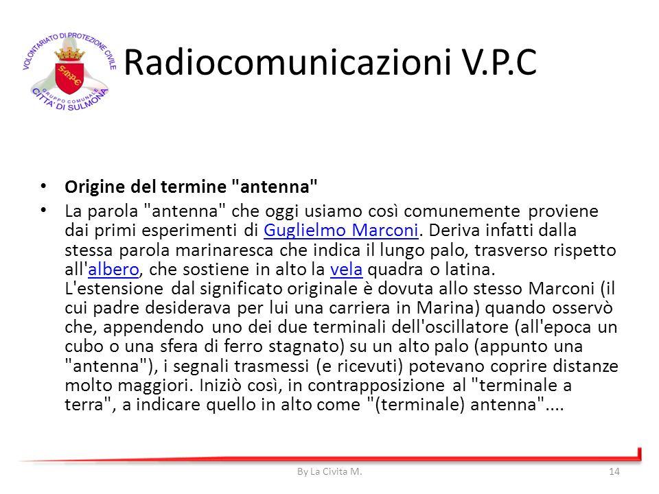 Radiocomunicazioni V.P.C Origine del termine