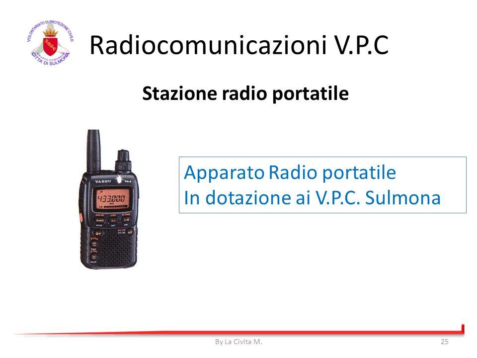By La Civita M.25 Radiocomunicazioni V.P.C Apparato Radio portatile In dotazione ai V.P.C. Sulmona Stazione radio portatile