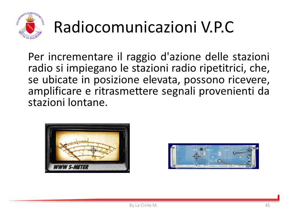 Radiocomunicazioni V.P.C Per incrementare il raggio d'azione delle stazioni radio si impiegano le stazioni radio ripetitrici, che, se ubicate in posiz