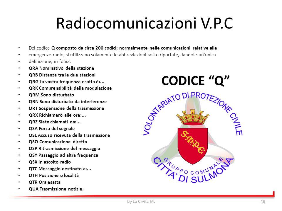 CODICE Q Del codice Q composto da circa 200 codici; normalmente nelle comunicazioni relative alle emergenze radio, si utilizzano solamente le abbrevia