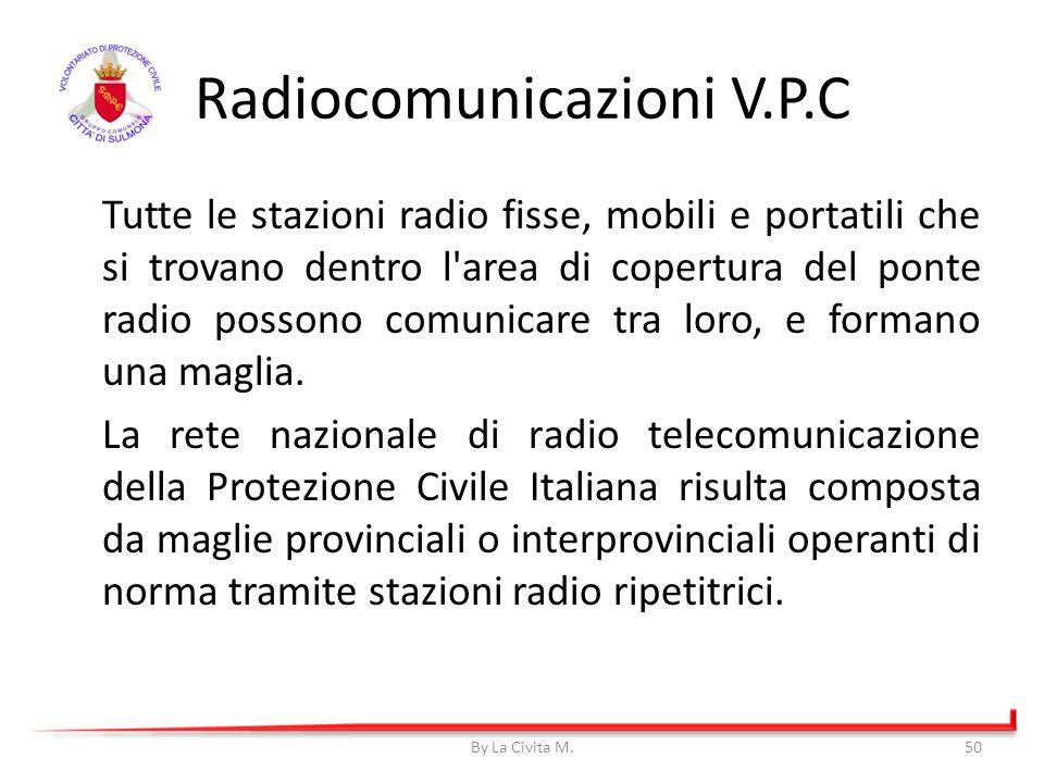 Radiocomunicazioni V.P.C Tutte le stazioni radio fisse, mobili e portatili che si trovano dentro l'area di copertura del ponte radio possono comunicar