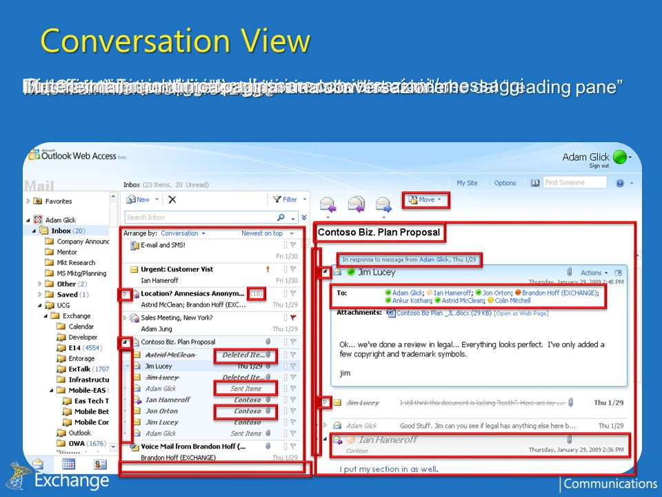 Conversation View Microsoft Confidential