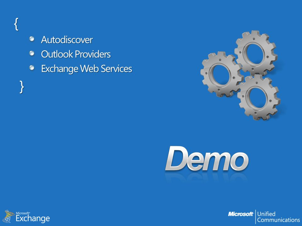 {Autodiscover Outlook Providers Exchange Web Services }