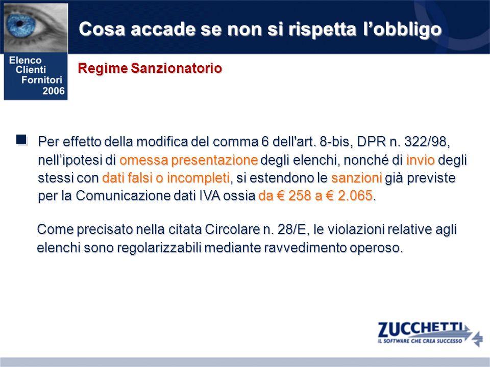 Schema di Sintesi Prospetto riepilogativo per ladempimento 2006