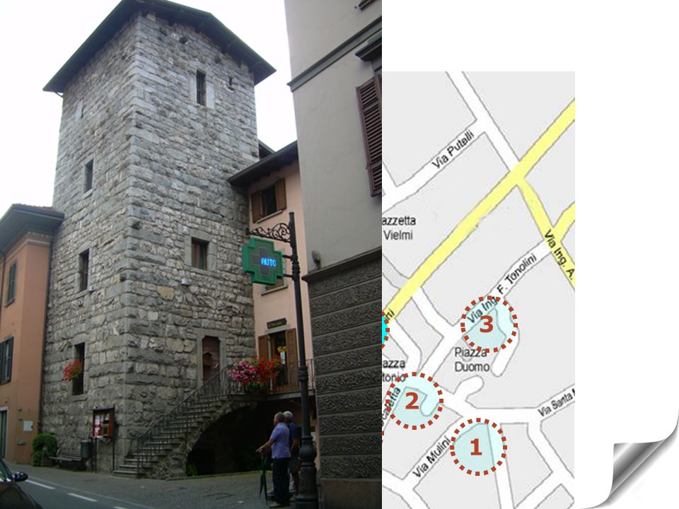 1 7TOWER OF VIA MAZZINI medieval period 2 3 4 5 6 7