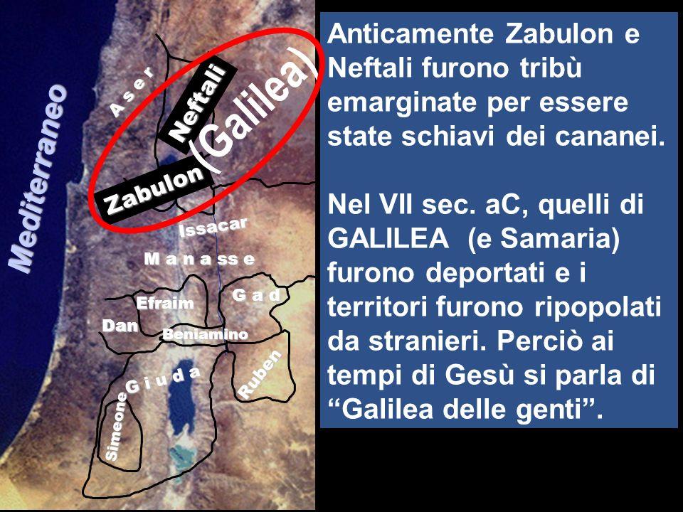 Twelve Tribes of Israel A s e r Simeone Neftali Zabulon Issacar Efraim M a n a ss e G a d Dan Ruben G i u d a Beniamino (Galilea) Mediterraneo Anticam