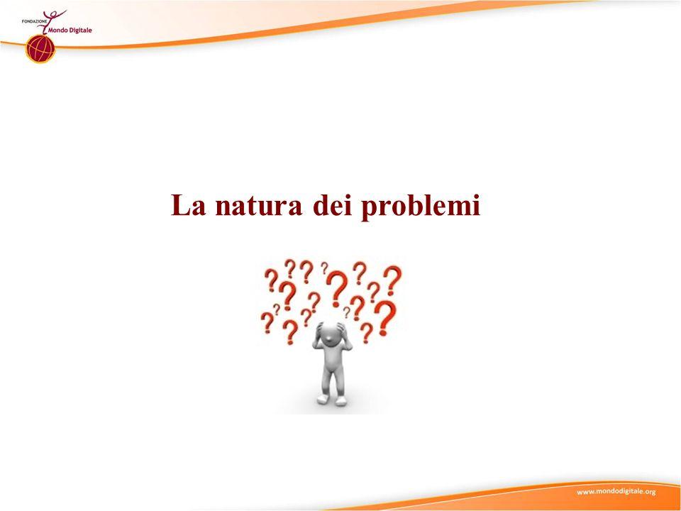 Suggerimenti didattici(1) Natura dei Problemi Struttura Complessità La Natura dei Problemi è definita da due caratteristiche principali: Complessità (da semplice a complesso) e Struttura (da ben strutturato a mal strutturato) Si vada al micro-modulo Natura dei Problemi – Complessità per trattare la Complessità (da semplice a complesso) dei problemi.