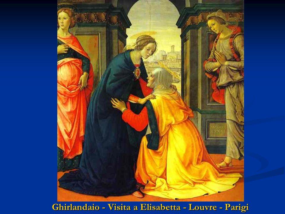 Ghirlandaio - Visita a Elisabetta - Cappella Tornabuoni S. Maria Novella - Firenze