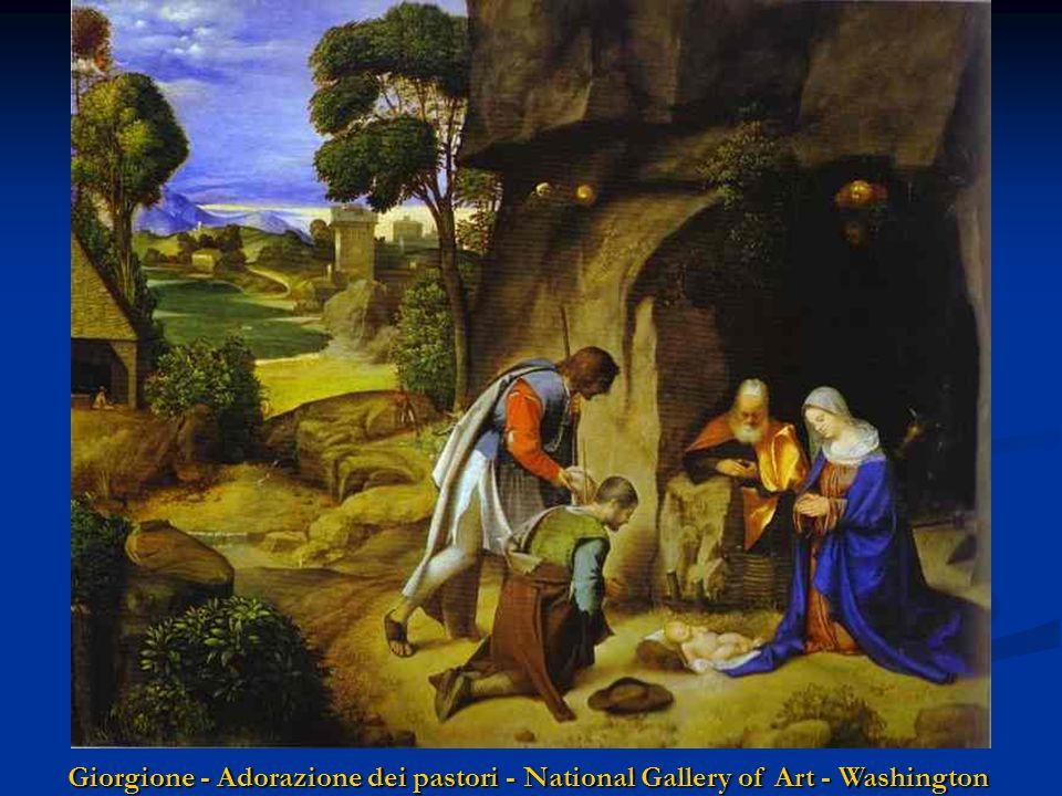 Ghirlandaio - Adorazione dei pastori Santa Trinità - Firenze Poussin - Adorazione dei pastori National Gallery - Londra