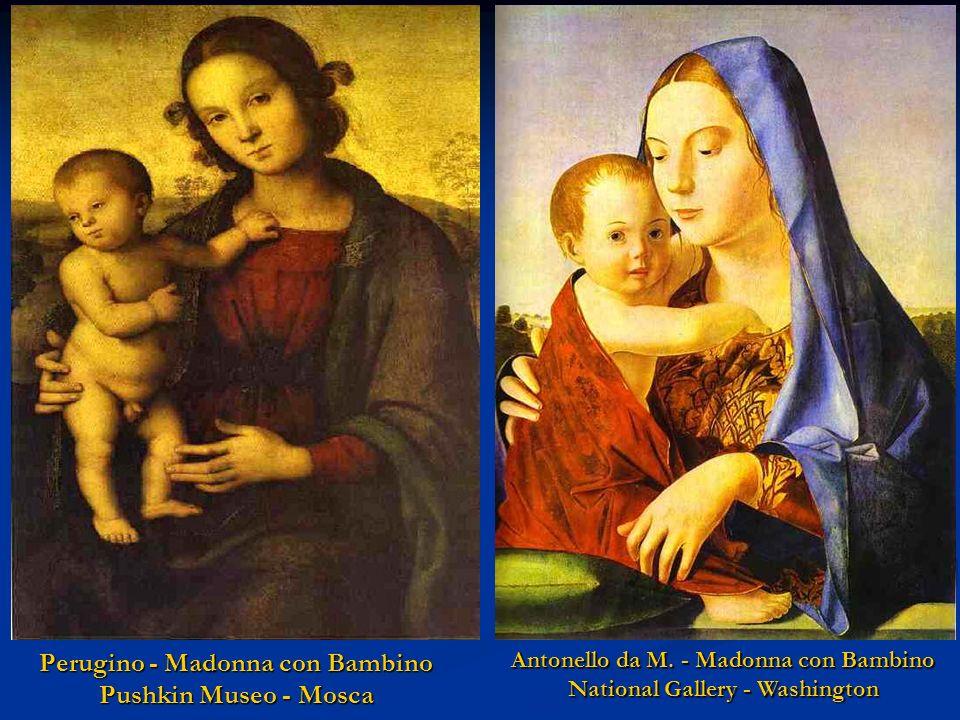 Leonardo da V. - Madonna del Garofano Pinacoteca - Monaco di Baviera Leonardo da V. - Madonna delle rocce Collezione Privata