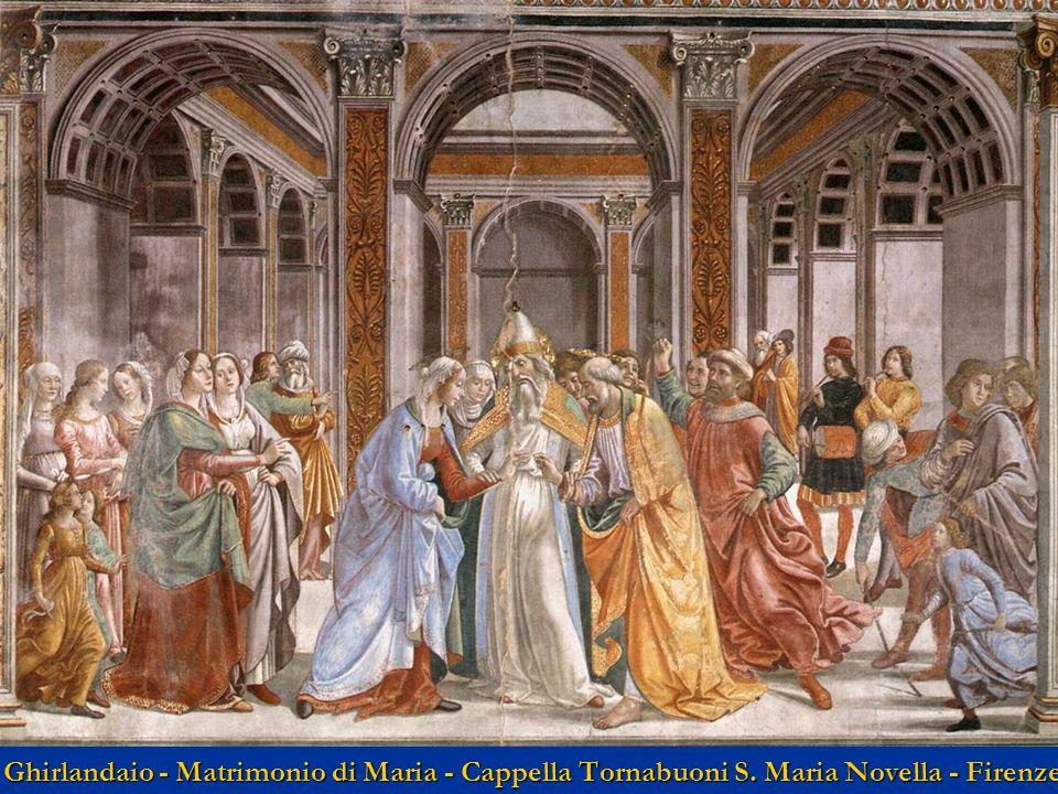 Ghirlandaio - Matrimonio di Maria - Cappella Tornabuoni S. Maria Novella - Firenze