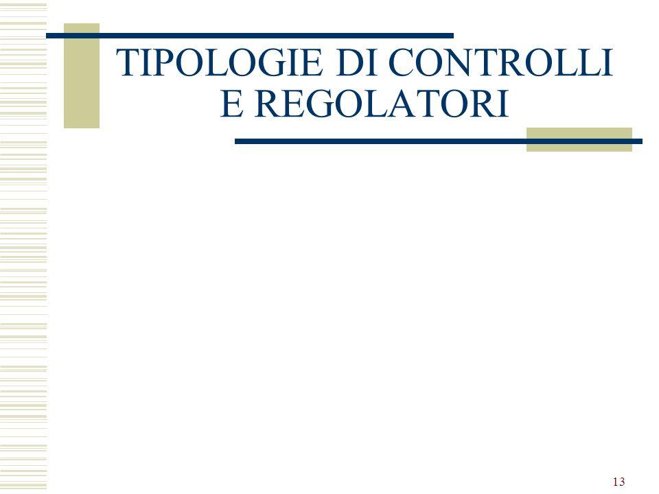 13 TIPOLOGIE DI CONTROLLI E REGOLATORI