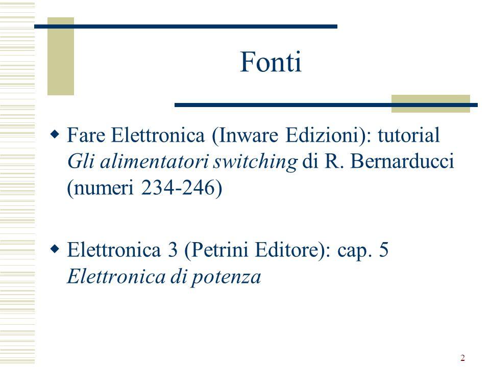 2 Fonti Fare Elettronica (Inware Edizioni): tutorial Gli alimentatori switching di R.