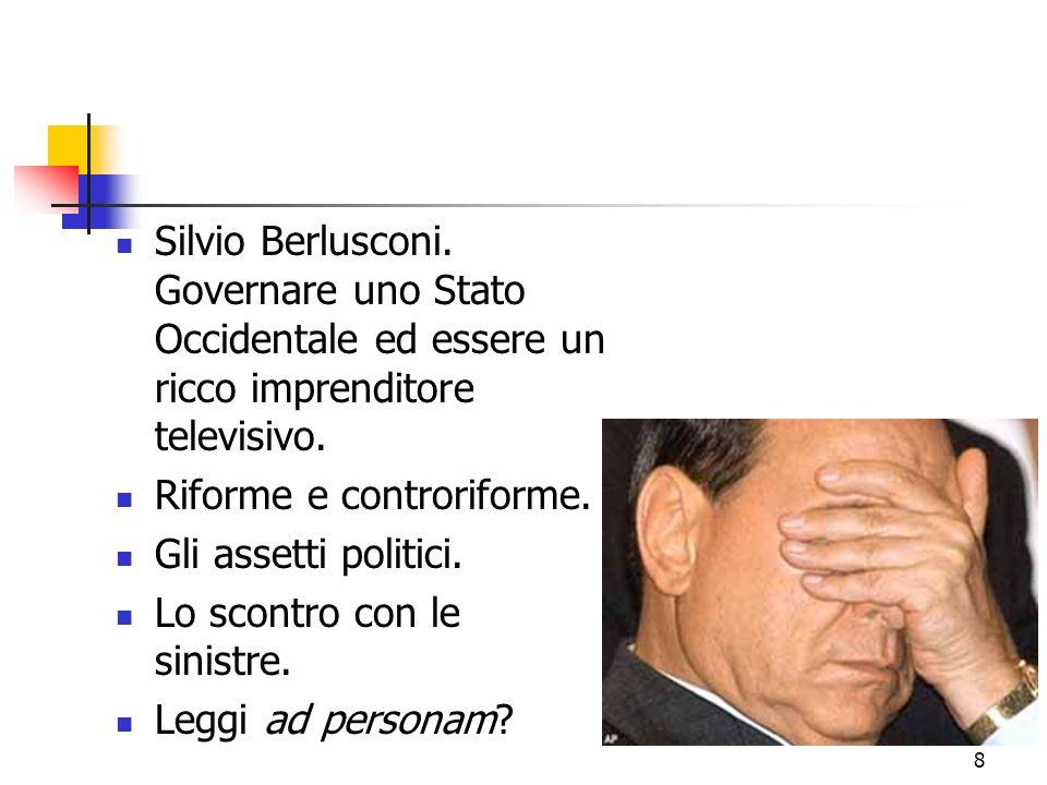 8 Silvio Berlusconi. Governare uno Stato Occidentale ed essere un ricco imprenditore televisivo.
