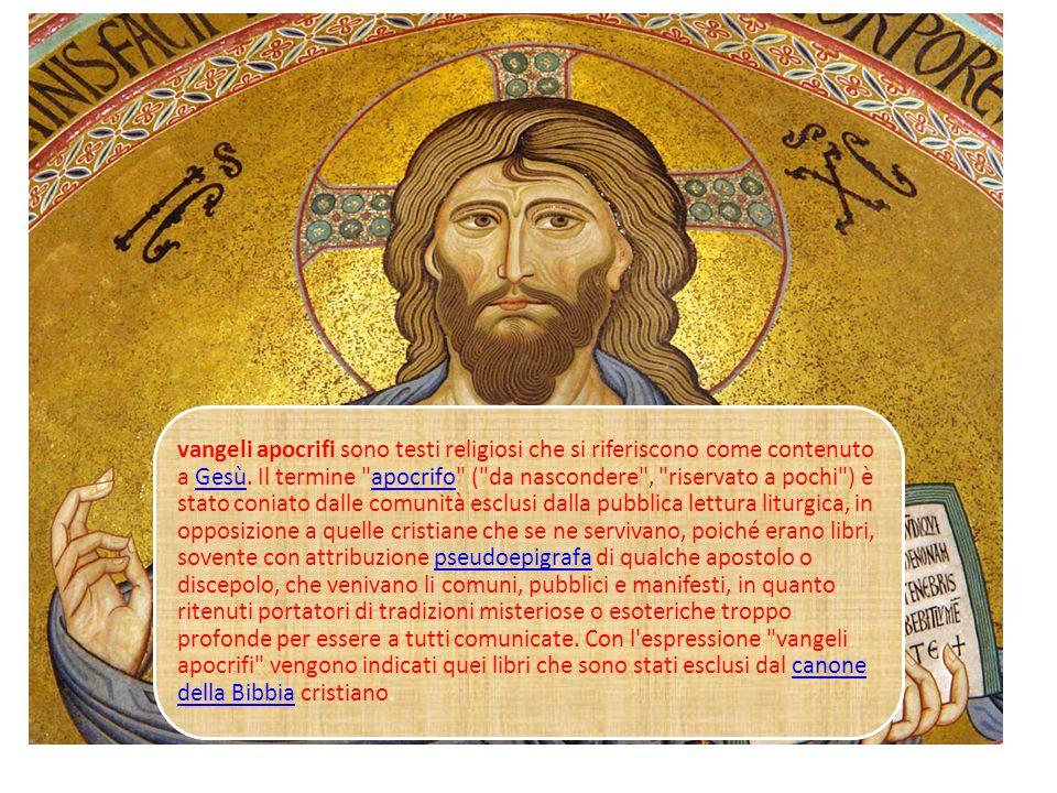I Vangeli Apocrifi nella cultura contemporanea La Buona Novella
