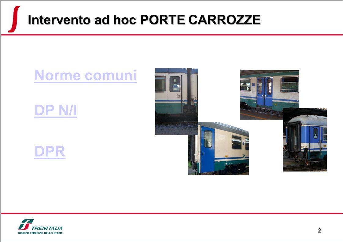2 DP N/I DPR Norme comuni Intervento ad hoc PORTE CARROZZE