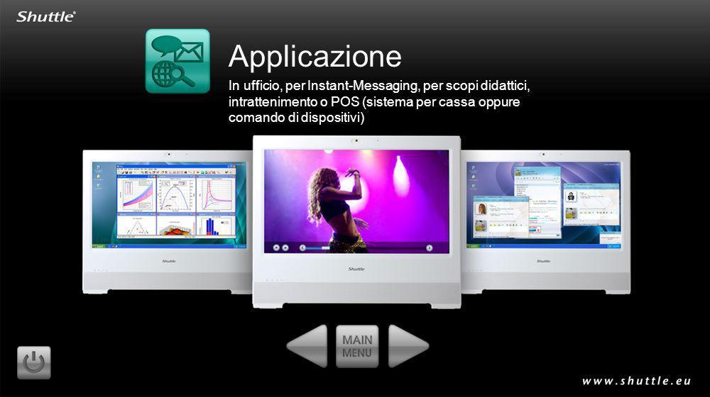Applicazione In ufficio, per Instant-Messaging, per scopi didattici, intrattenimento o POS (sistema per cassa oppure comando di dispositivi)
