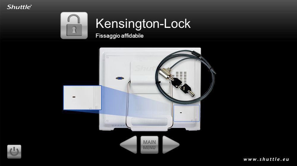 Kensington-Lock Fissaggio affidabile