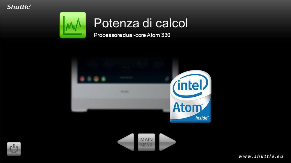 Potenza di calcol Processore dual-core Atom 330