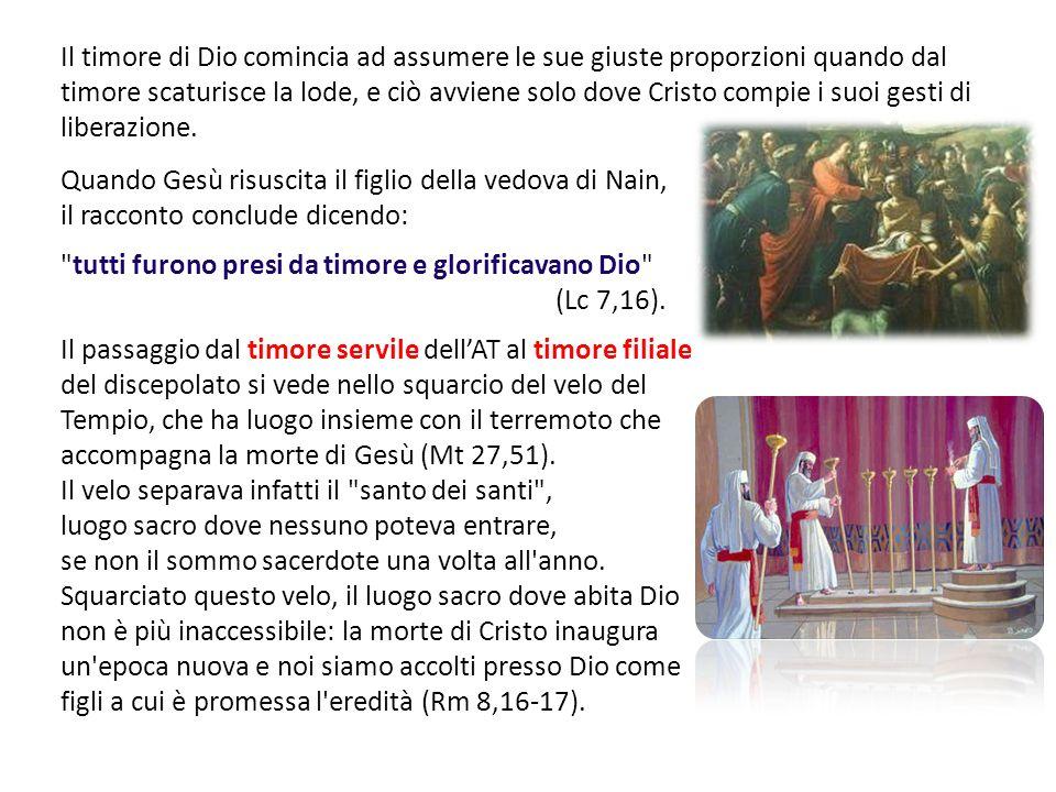 Quando Gesù risuscita il figlio della vedova di Nain, il racconto conclude dicendo: